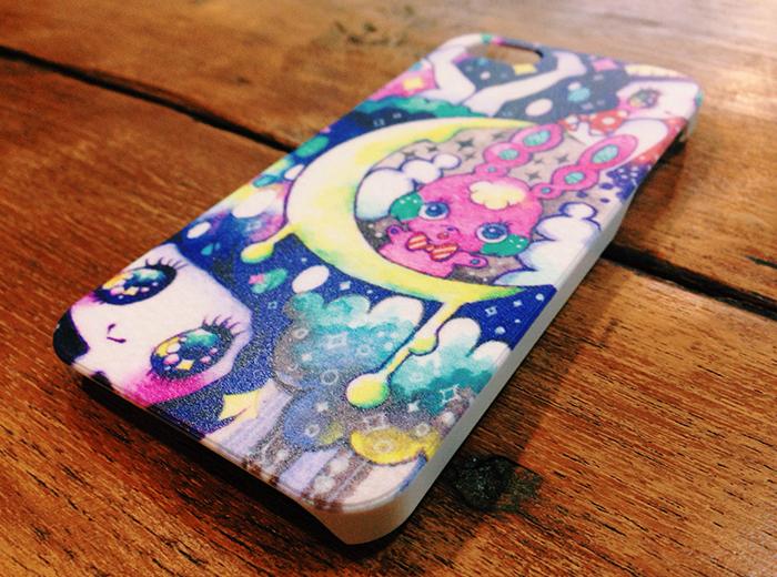 月のうさぎと女の子のiPhone5ケース