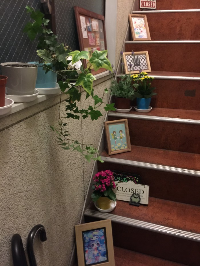弊社入口の階段